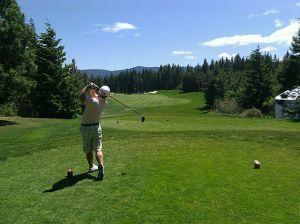 Le golfeur ... intérieur ...