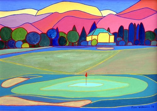 Paysages de golf : oeuvre de Pierre Wittmann, tout droit réservé