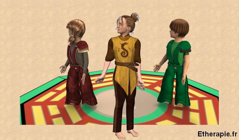 Qi-gong, parents et enfants (8brocarts)