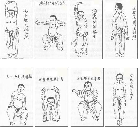 Qi-gong, 8 brocarts du Genéral Yue Fei